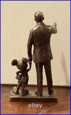 Disney 2001 WDCC WDAC Partners Statue Walt and Mickey LE 700 Miniature