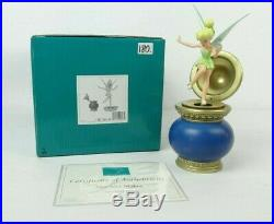 Disney WDCC 4013410 Peter Pan Tinker Bell on Inkwell Mischief Maker withCOA