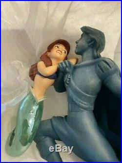 Disney WDCC Little Mermaid Ariel with Eric Statue with signed card Jodi Benson #323