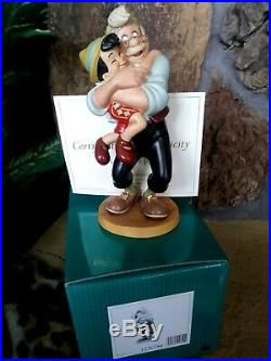 PINOCCHIO GEPPETTO WDCC FIGURINE, A FATHER'S JOY, #360/750 NIB, withCOA, Brochure
