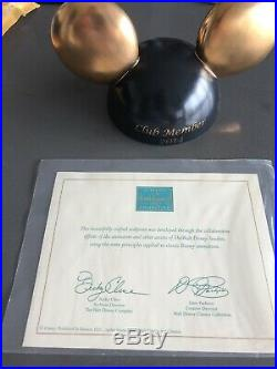 RARE Club 33 Mickey Ears with Gold Ears! WDCC Walt Disney Classics Collection COA