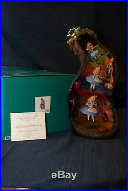 WDCC Alice in Wonderland Down The Rabbit Hole Limited Ed. Perfect Condition