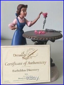 WDCC Beauty & The Beast Belle Forbidden Discovery Collectible Figurine COA