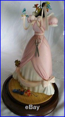 WDCC DISNEY CINDERELLA titled A Lovely Dress For Cinderelly with Mouse & Shoe