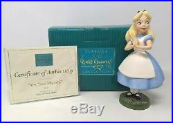 WDCC Disney Classics Alice in Wonderland Yes Your Majesty with Box & COA A003
