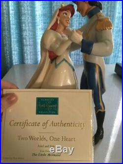 WDCC Little Mermaid Ariel & Eric Two Worlds, One Heart Collectible Figurine