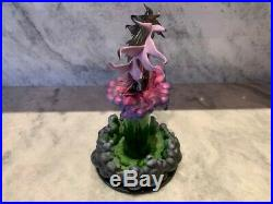 WDCC Maleficent Dragon Evil Eruption Glass Display LYD 156/500 NIB withCOA