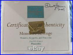 WDCC Monstro's Revenge from Disney's Pinocchio in Box with Signed COA READ