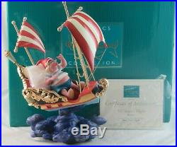 WDCC Mr Smee's Flight from Disney's Attraction Peter Pan's Flight Box with COA