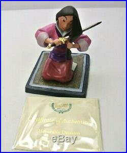 WDCC Mulan Honorable Decision from Disney's Mulan with COA No Box