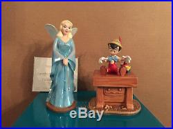 WDCC Pinocchio And Blue Fairy The Gift of Life is Thine + Box/COA