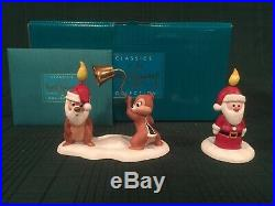 WDCC Pluto's Christmas Tree Chip n Dale Little Mischief Makers & Santa Candle