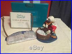 WDCC Scrooge McDuck Laundry Day + Box/COA