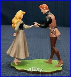 WDCC Sleeping Beauty Prince Phillip & Briar Rose Chance Encounter Signed