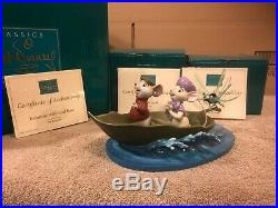 WDCC The Rescuers 3pc Set Bold Bernard, Brave Bianca, Evinrude Base All Signed