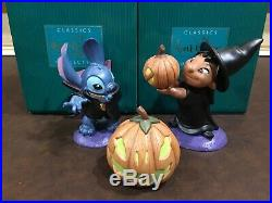 WDCC Trick. LILO. Or Treat Stitch. Complete Set 3 Pieces. Perfect Condition