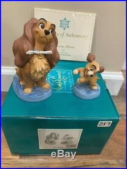 WDCC Walt Disney Lady and The Tramp Welcome Home Lady Precocious Pup MIB COA