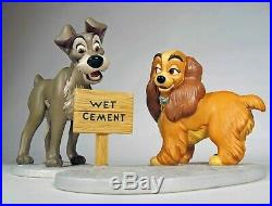 Walt Disney Classic Collection Lady & Tramp with Title, 3 Piece Set