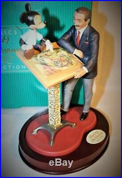 Wdcc Disney Classics Sharing The Vision Walt And Mickey Limited #647 Sculpture